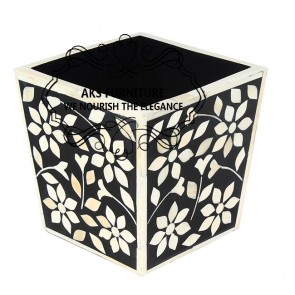 Bone inlay Planter
